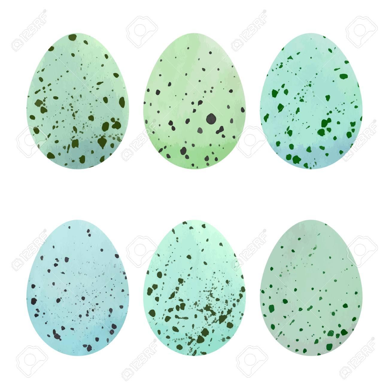 Watercolor Easter eggs set. Vector design elements. - 68885124