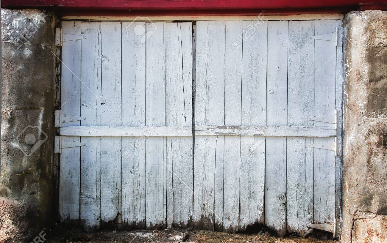 Worn White Barn Door Backdrop Stock Photo Picture And Royalty Free