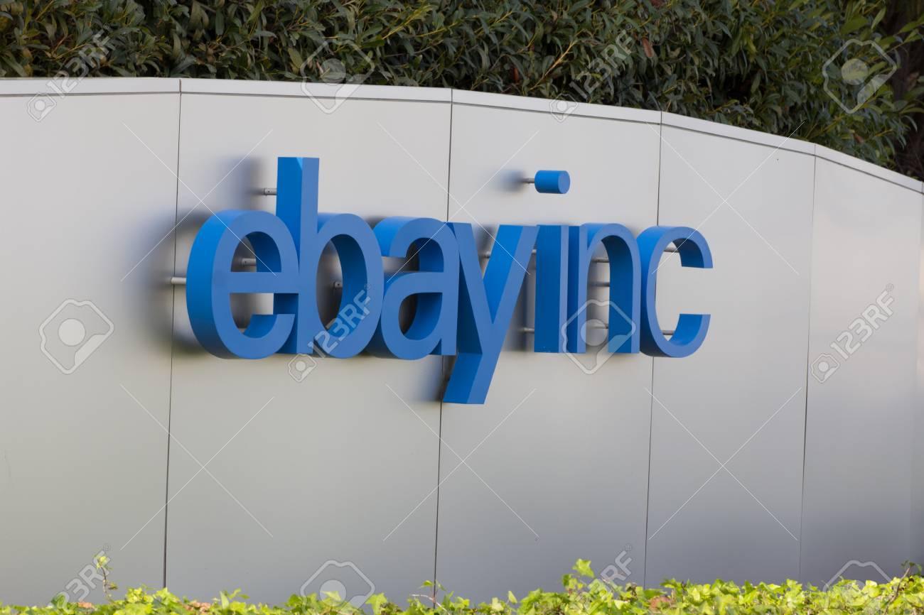 San Jose Ca Usa 1 Marz 2014 Ebay Unternehmenszentrale Zeichen