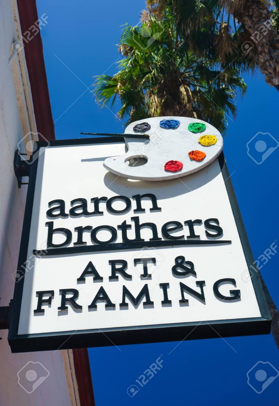 santa barbara ca usa july 26 2015 aaron brothers store and