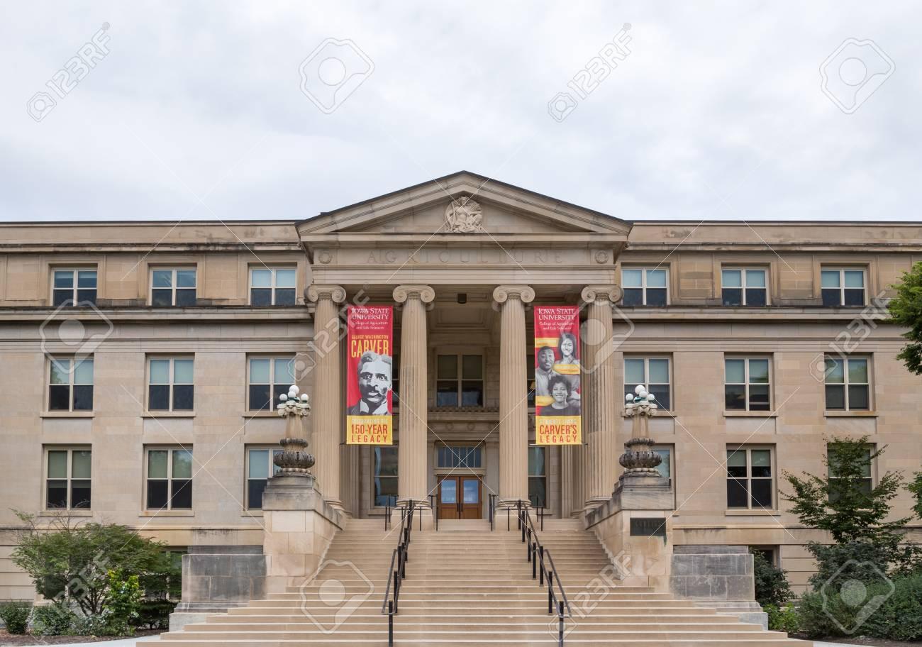 アイオワ州立大学のキャンパス内...