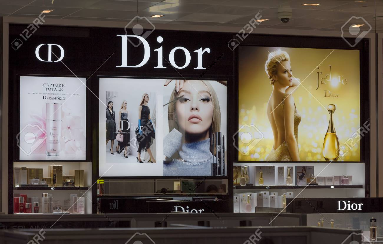 LOS ANGELES, CA/USA - AUGUST 4, 2015: Christian Dior store display