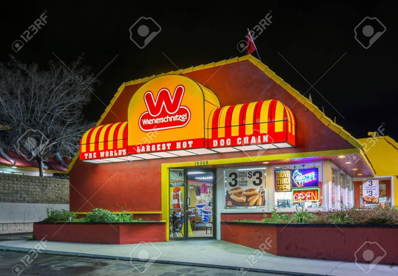 Santa Clarita Ca Usa Januar 5 2016 Wiener Schnitzel Schnell