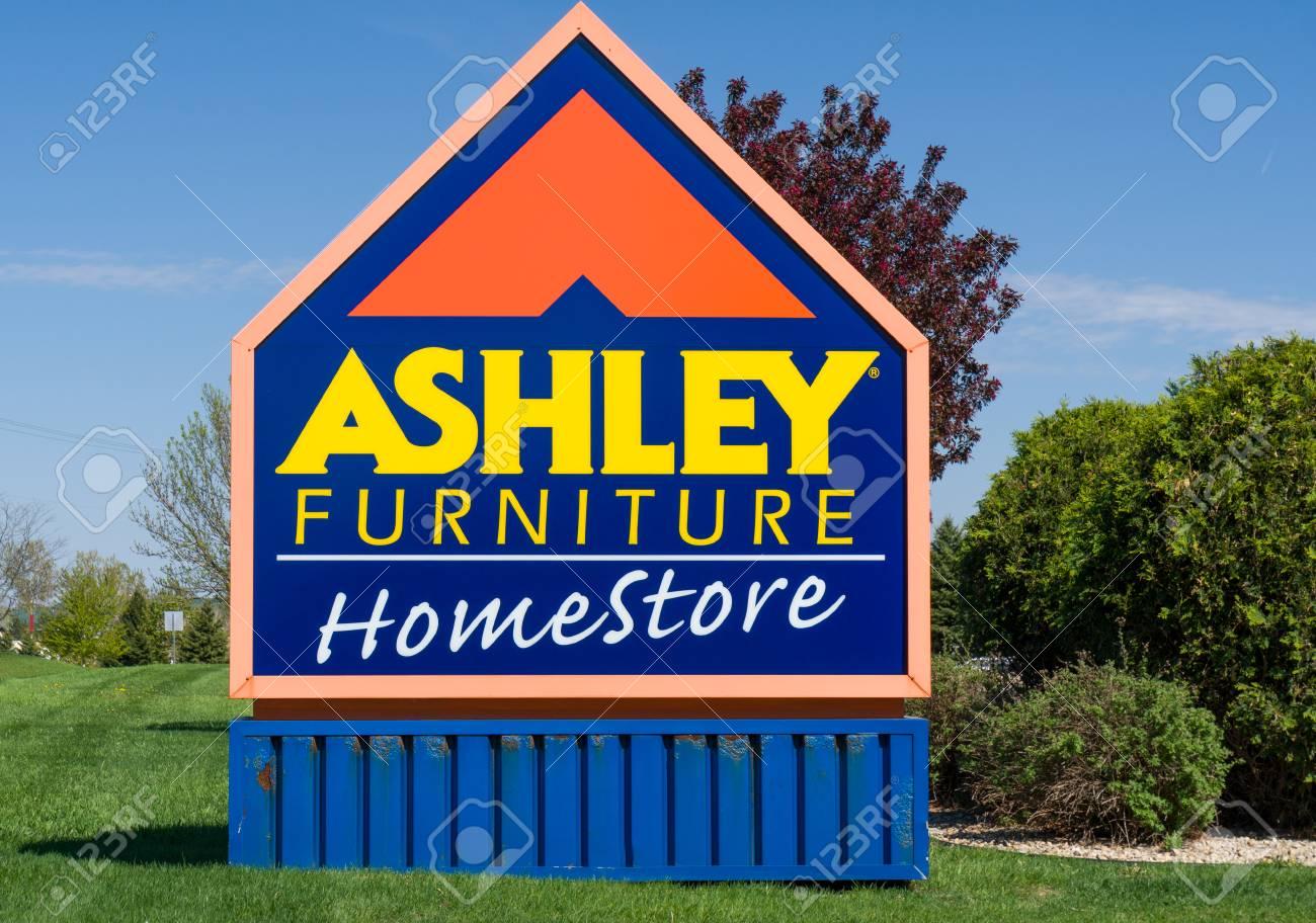 ST. PAUL, MN/USA   MAY 7, 2017: Ashley Furniture Store