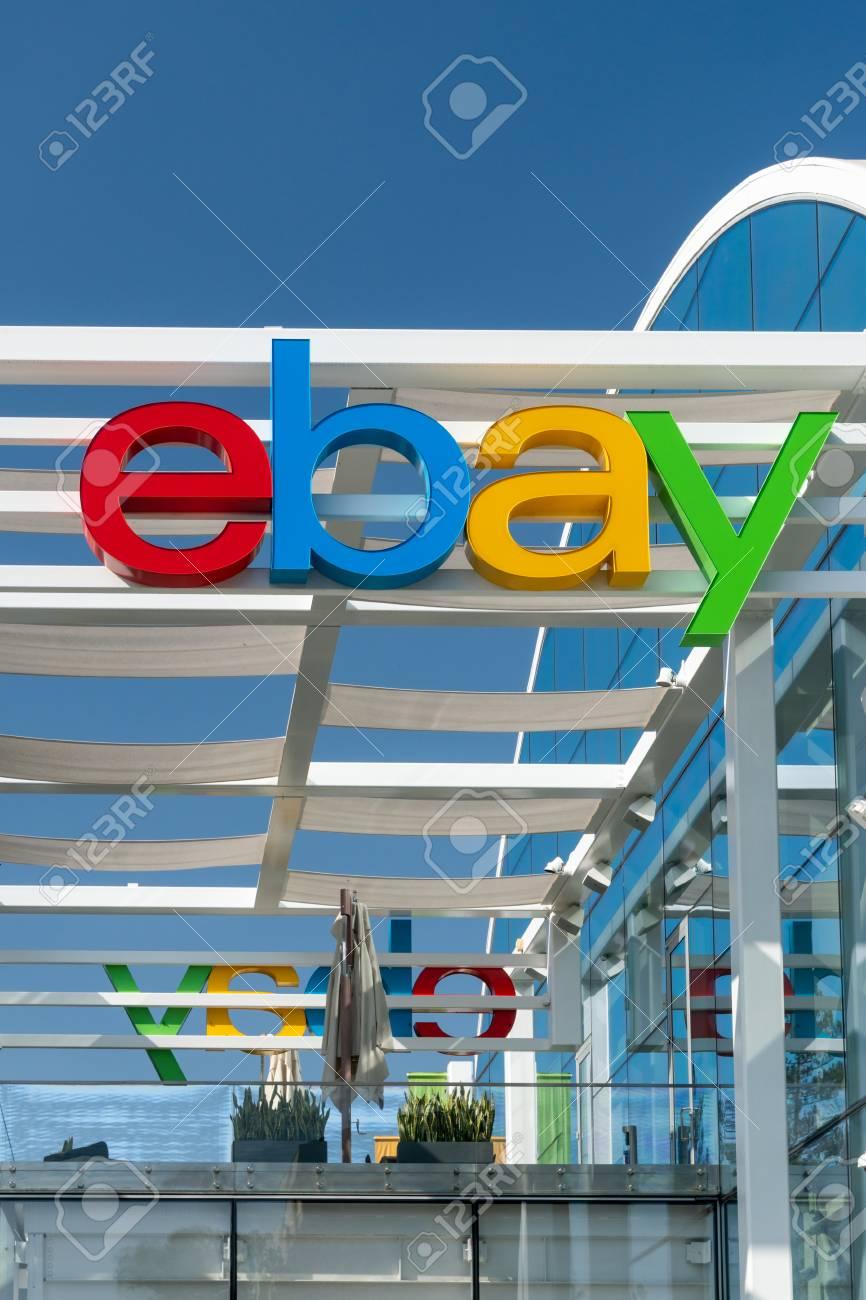 SAN JOSE, CA/USA - OCTOBER 21, 2018: eBay corporate headquarters