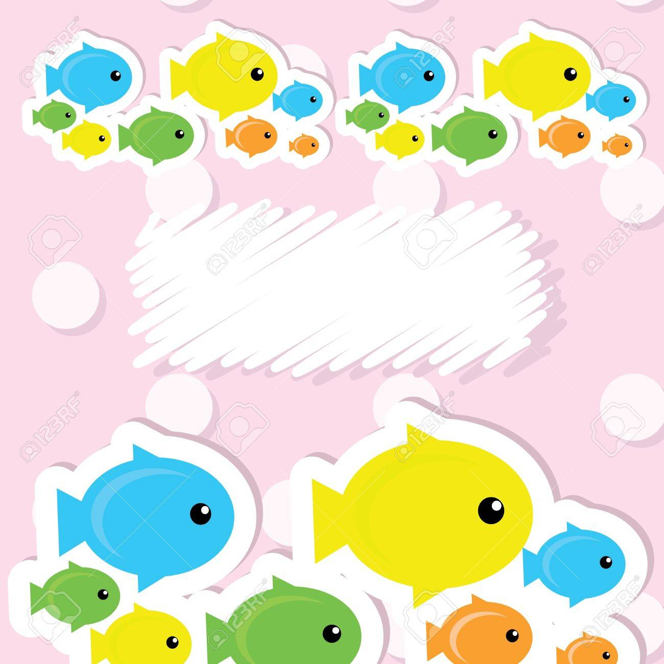 card with fish Stock Vector - 9684508