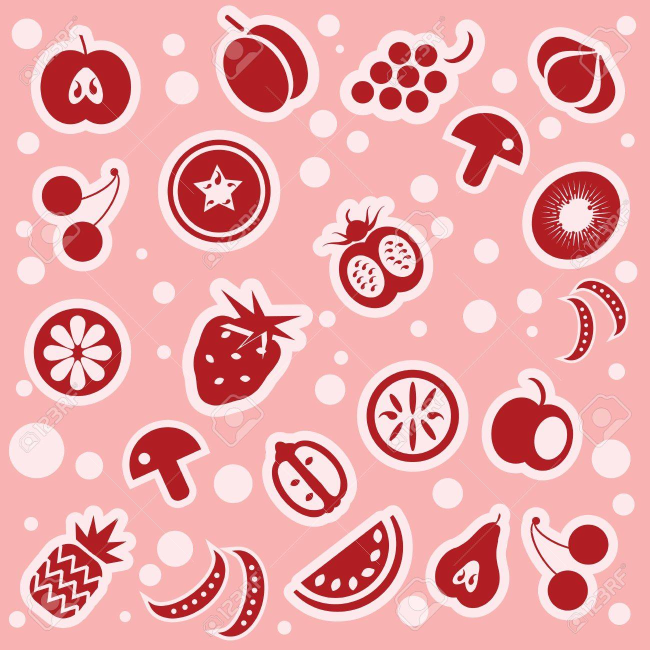 Fruit and vegetables pattern Stock Vector - 9935662