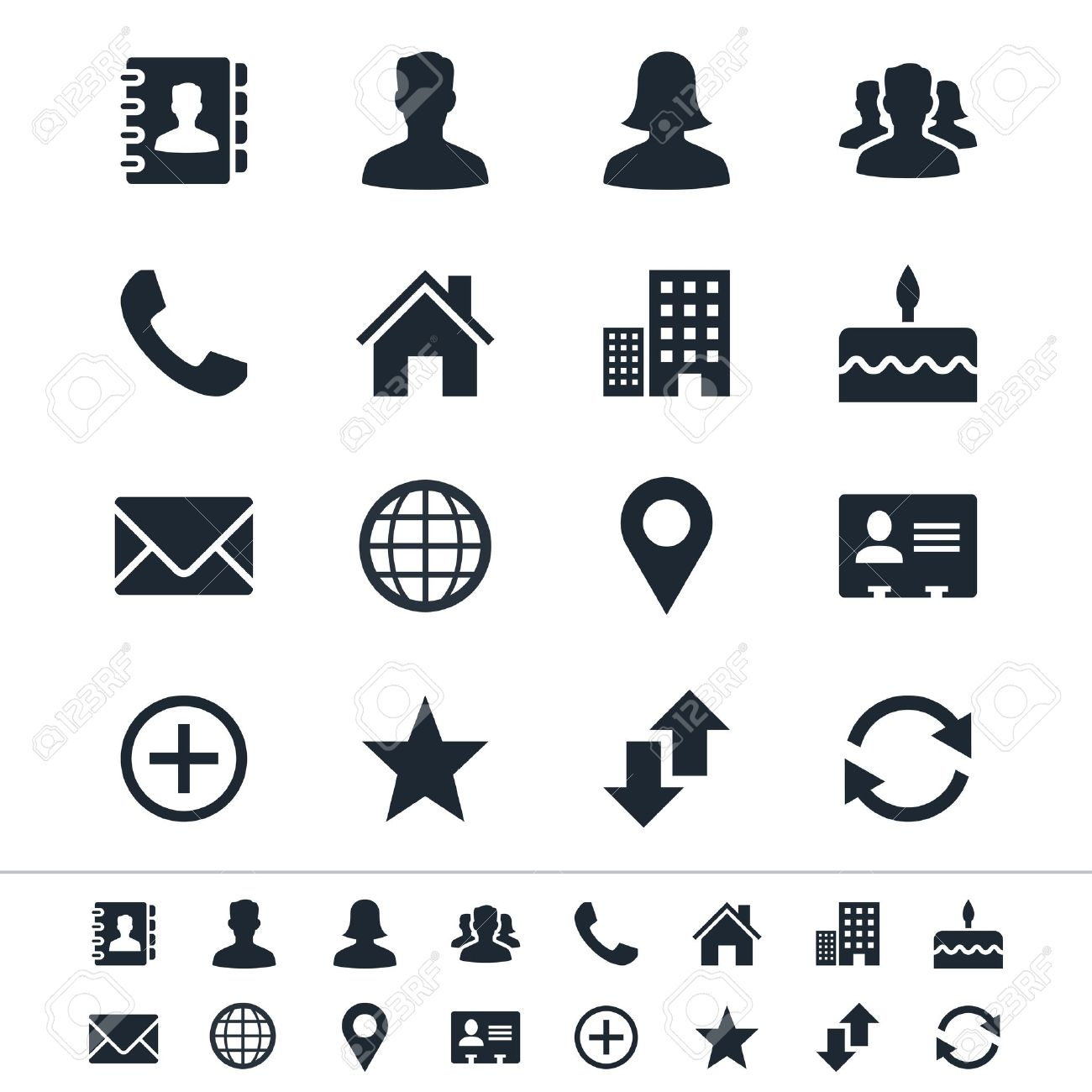 Contact icons Stock Vector - 17978862
