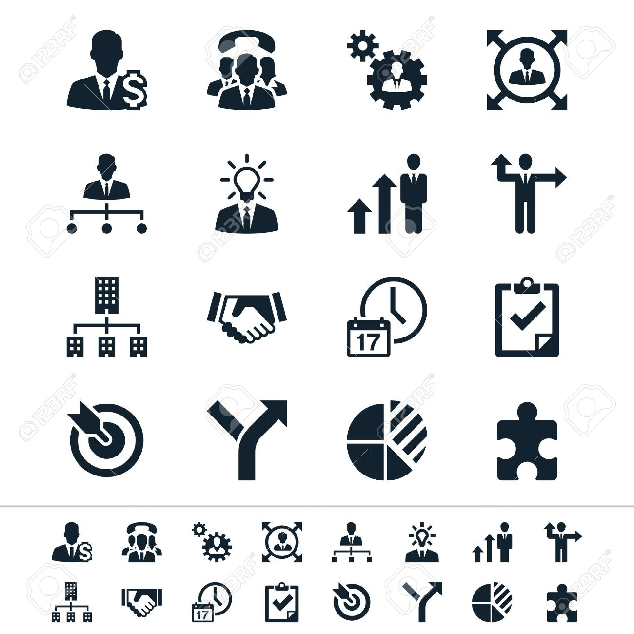 Business and management icons Stock Vector - 18705277