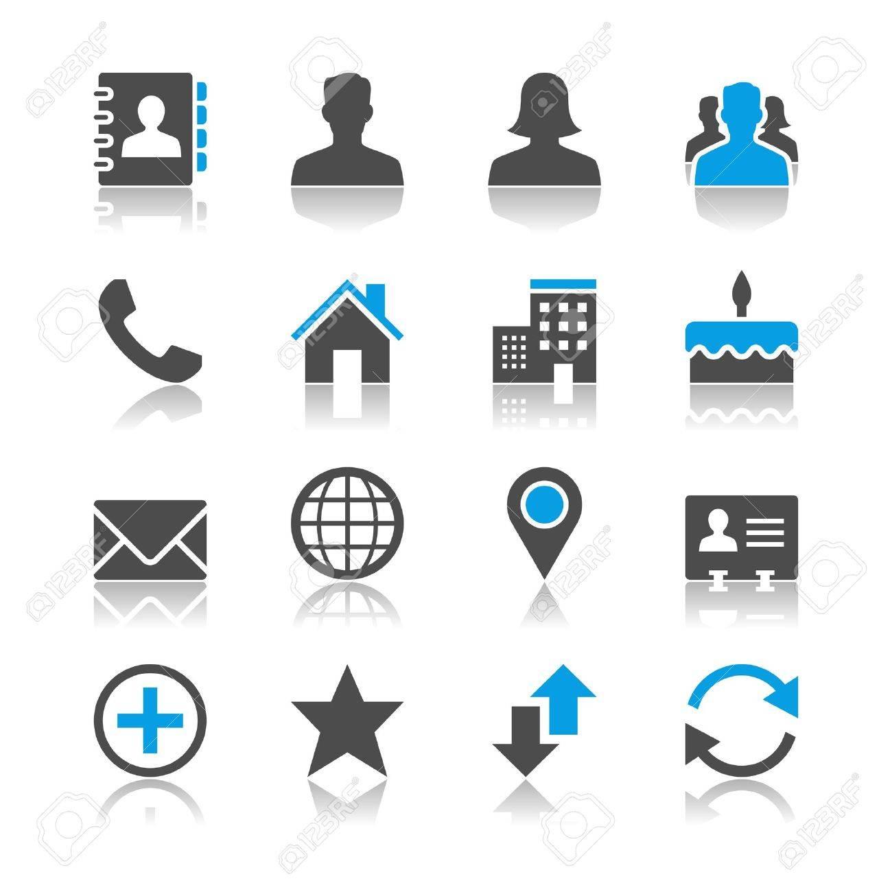 Contact icons - reflection theme - 18915389