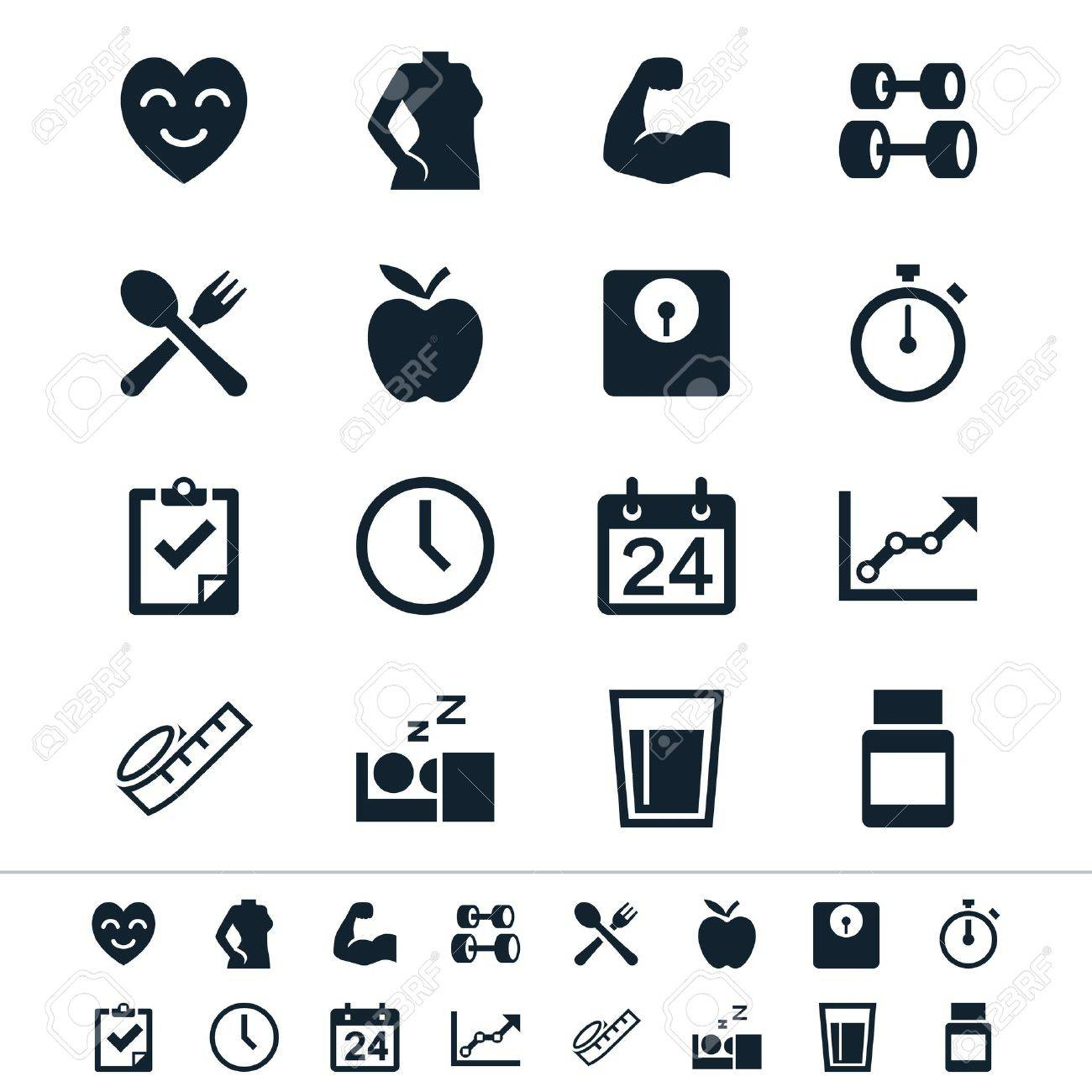 Simple vector icons. Clear and sharp. Easy to resize. No transparency effect. EPS10 file. Stock Vector - 21212102