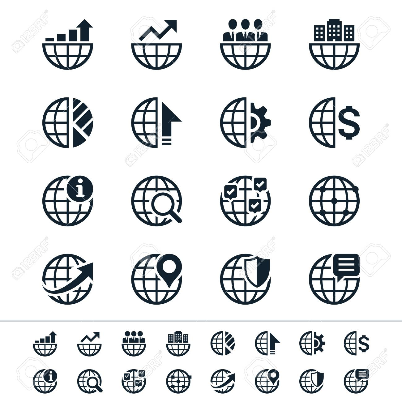 Business icons Stock Vector - 21430293