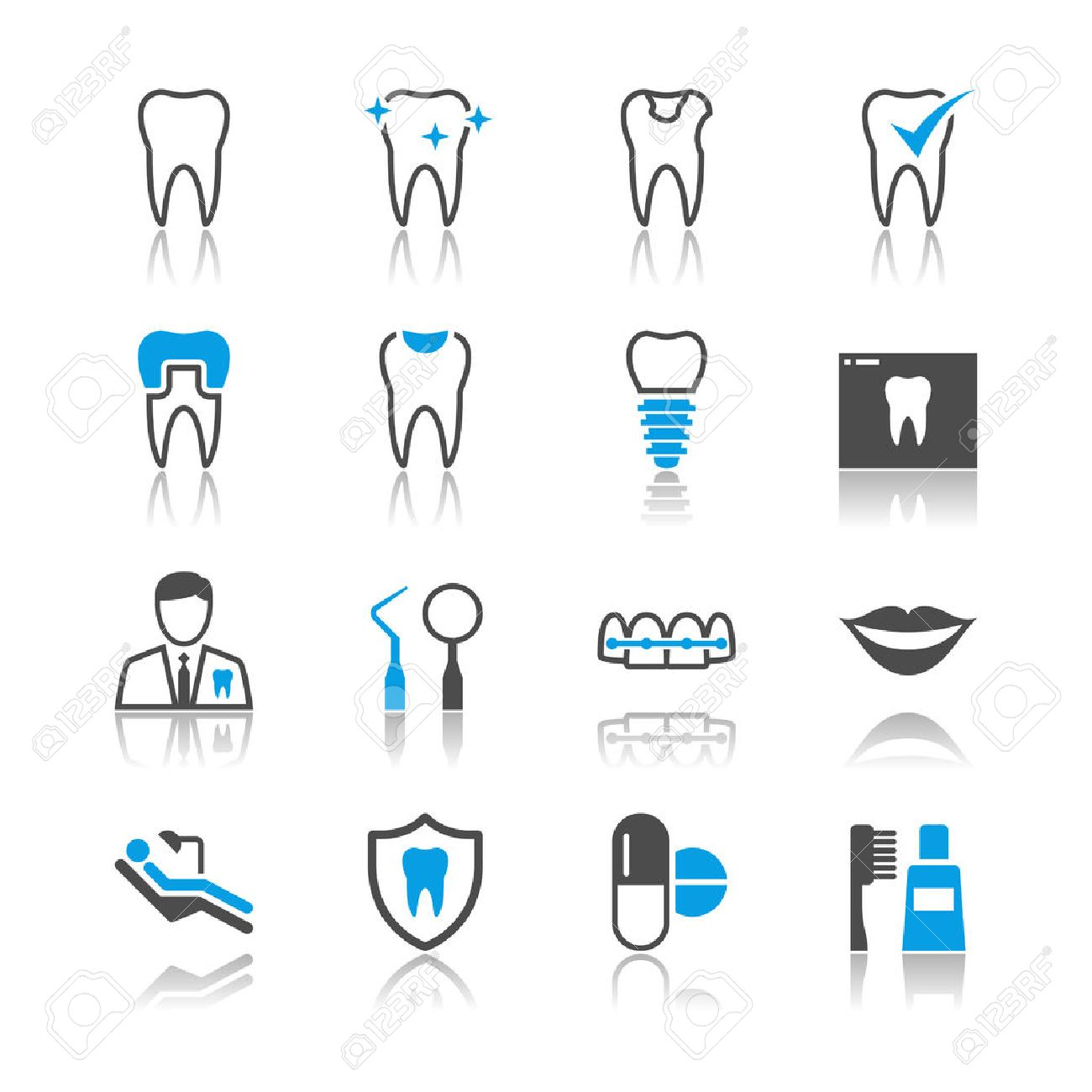 23,690 Dental Icons Stock Vector Illustration And Royalty Free ...