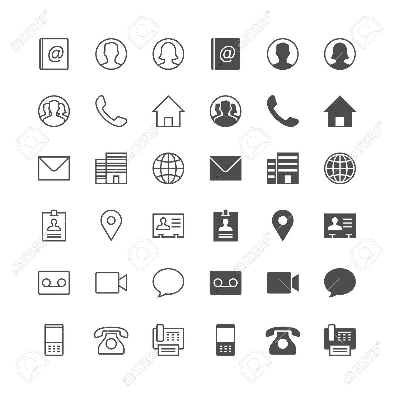 Contact icons, included normal and enable state. - 54324547