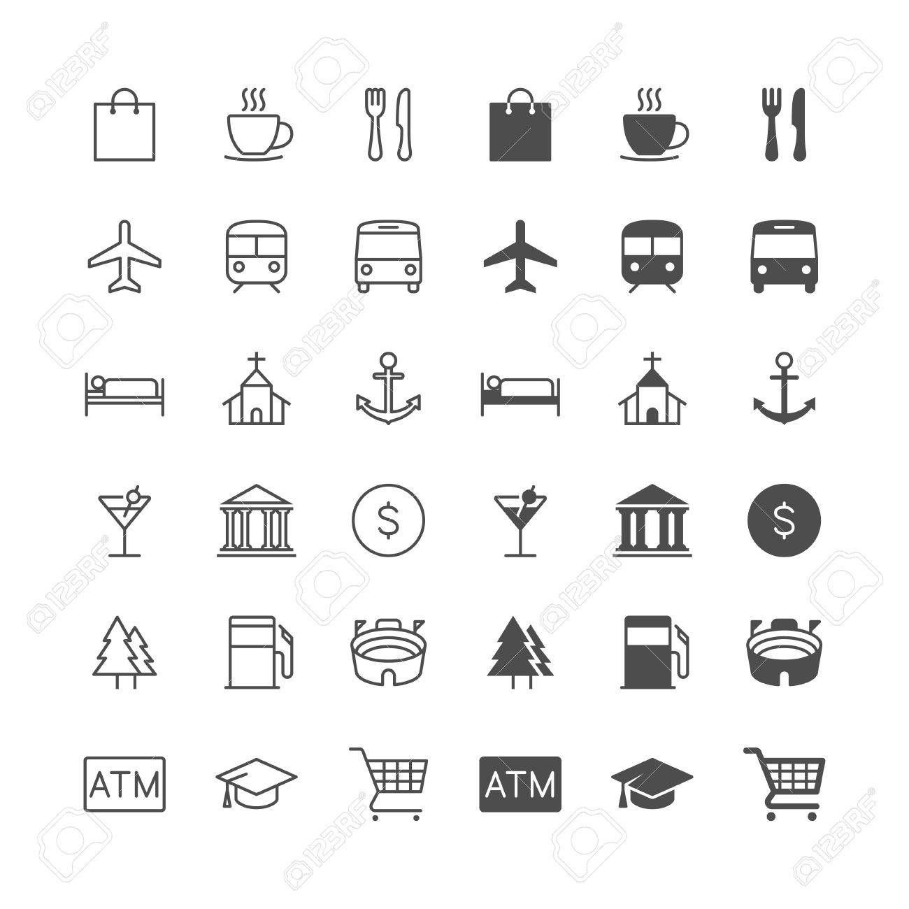 Map and location icons, included normal and enable state. - 59175909