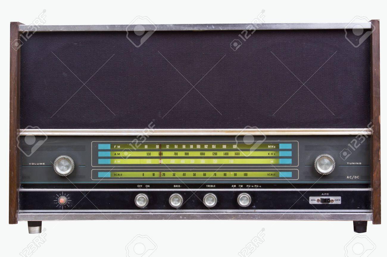 Vieux poste de radio Banque d'images - 12662816