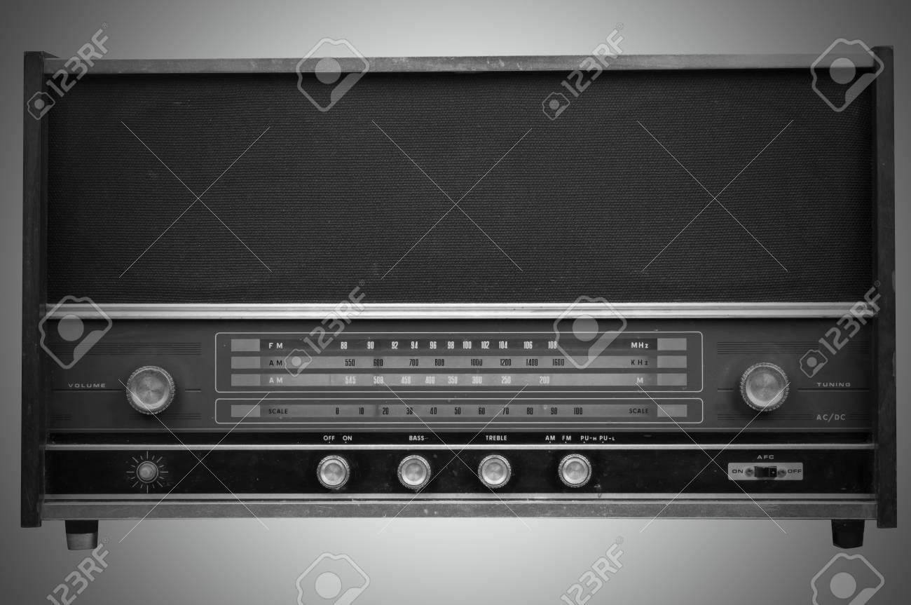 Old radio Stock Photo - 12662793