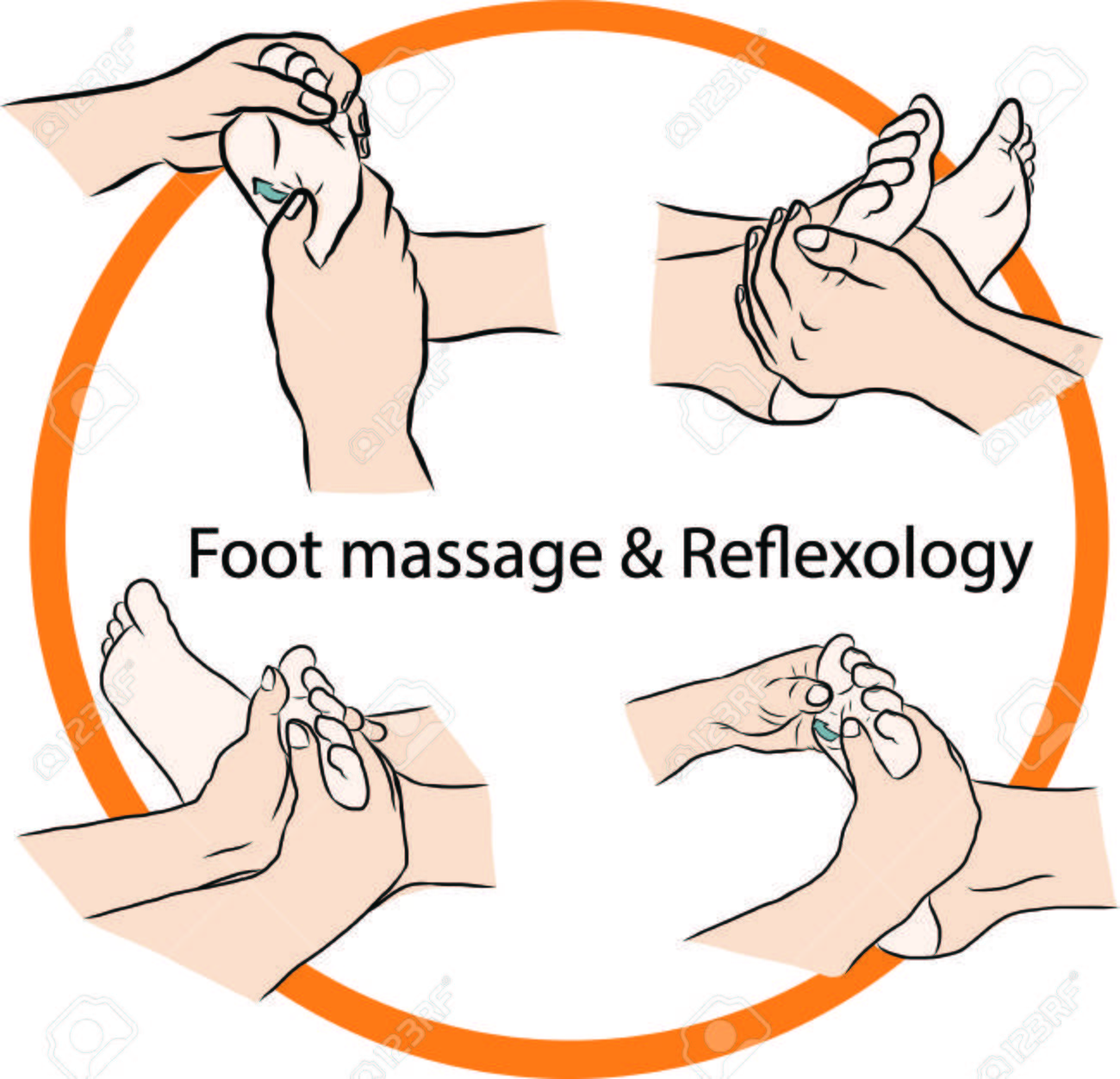 Hand draw Reflexology Stock Vector - 23078549