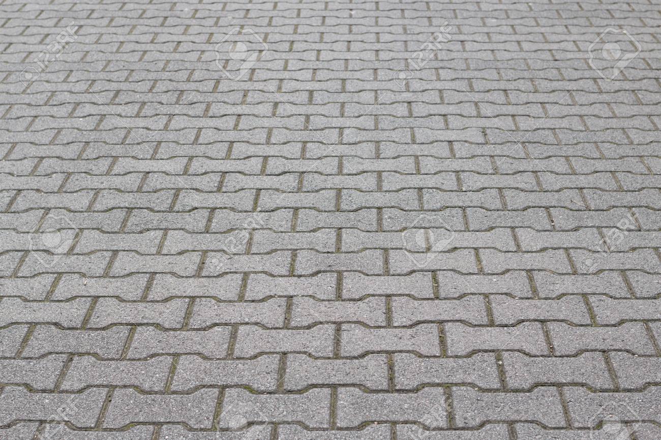 Bone Shaped Cobblestone Tiles On The Floor Floor Footpath Texture