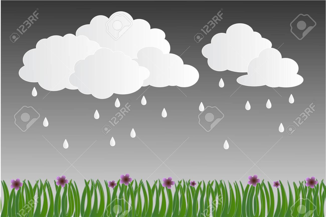 Rainy Season Dark Gloomy Rainy Day Paper Art And Digital Craft Stock Photo Picture And Royalty Free Image Image 134163898