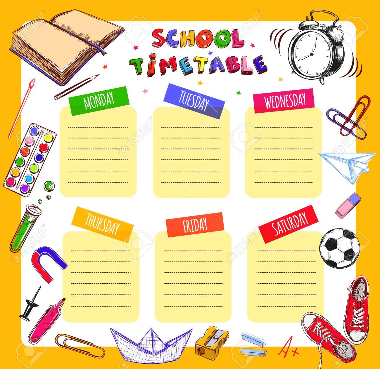 Niedlich Schule Zeitplan Vorlage Zeitgenössisch - Beispiel Business ...