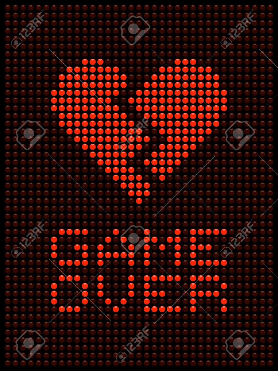 Game Over Message in Red LED Lights Stock Vector - 19026163