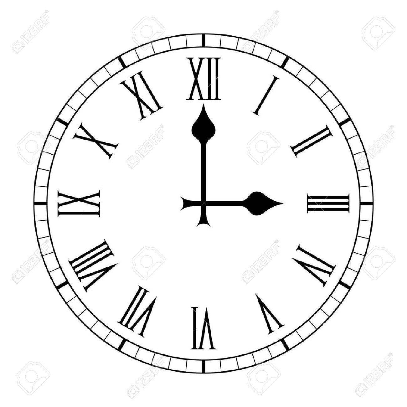 plain roman numeral clock face royalty free cliparts vectors and