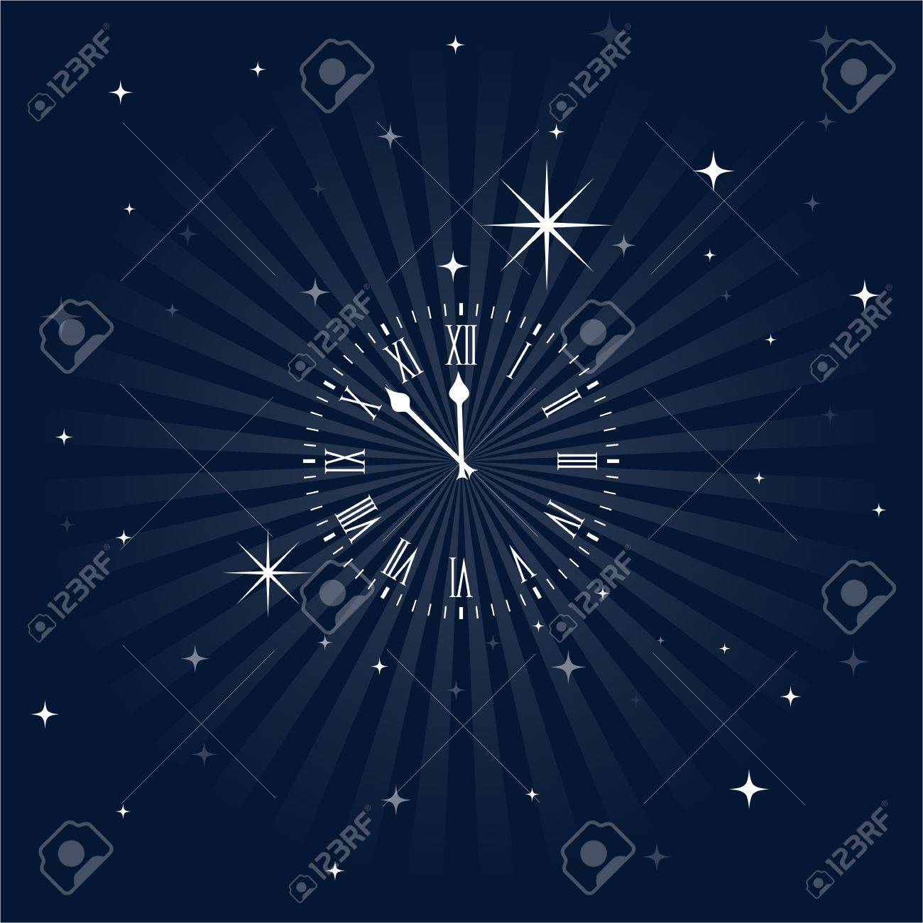 Insomnia clock, close to midnight Stock Vector - 20238539