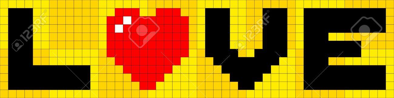 8 Bit Pixel Art Love