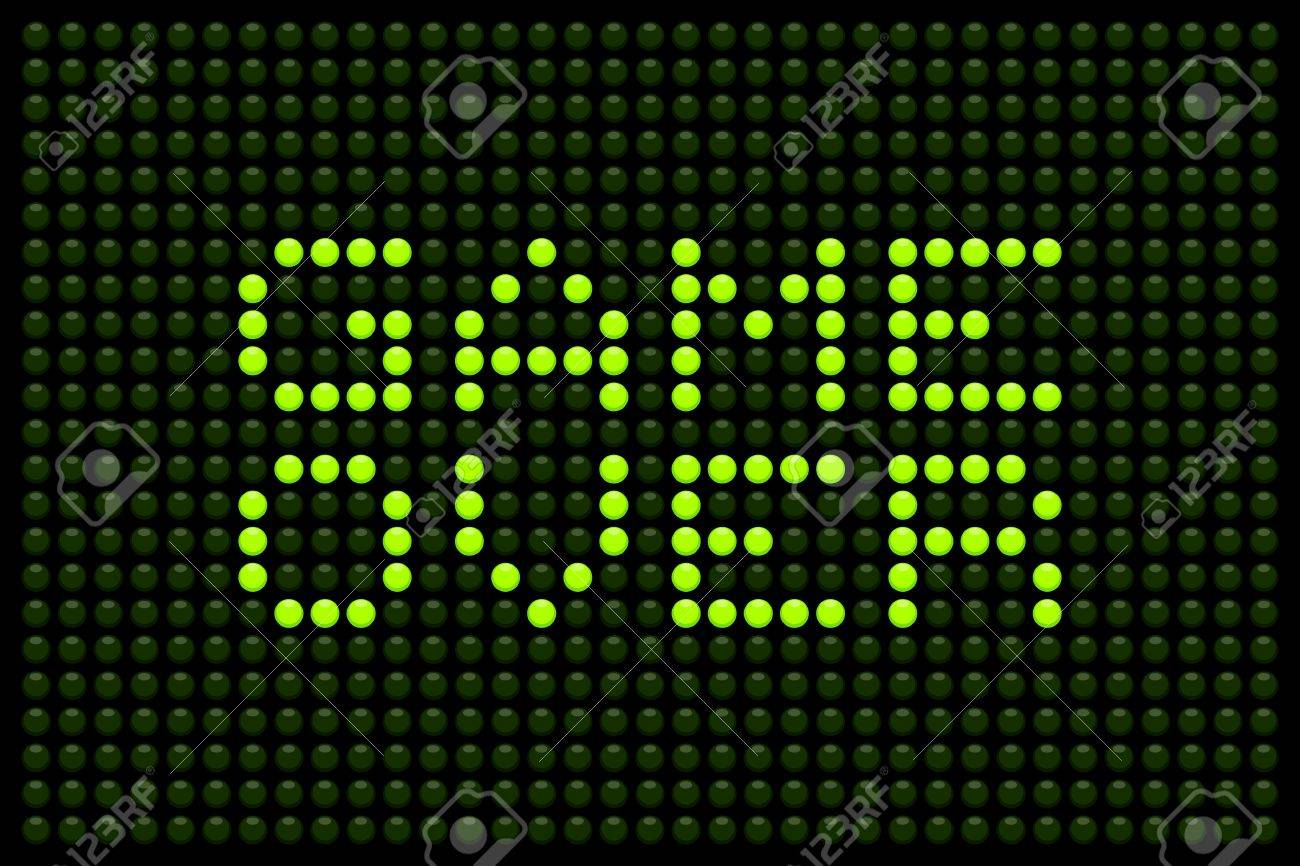 Game over message on a LED screen Stock Vector - 20238563