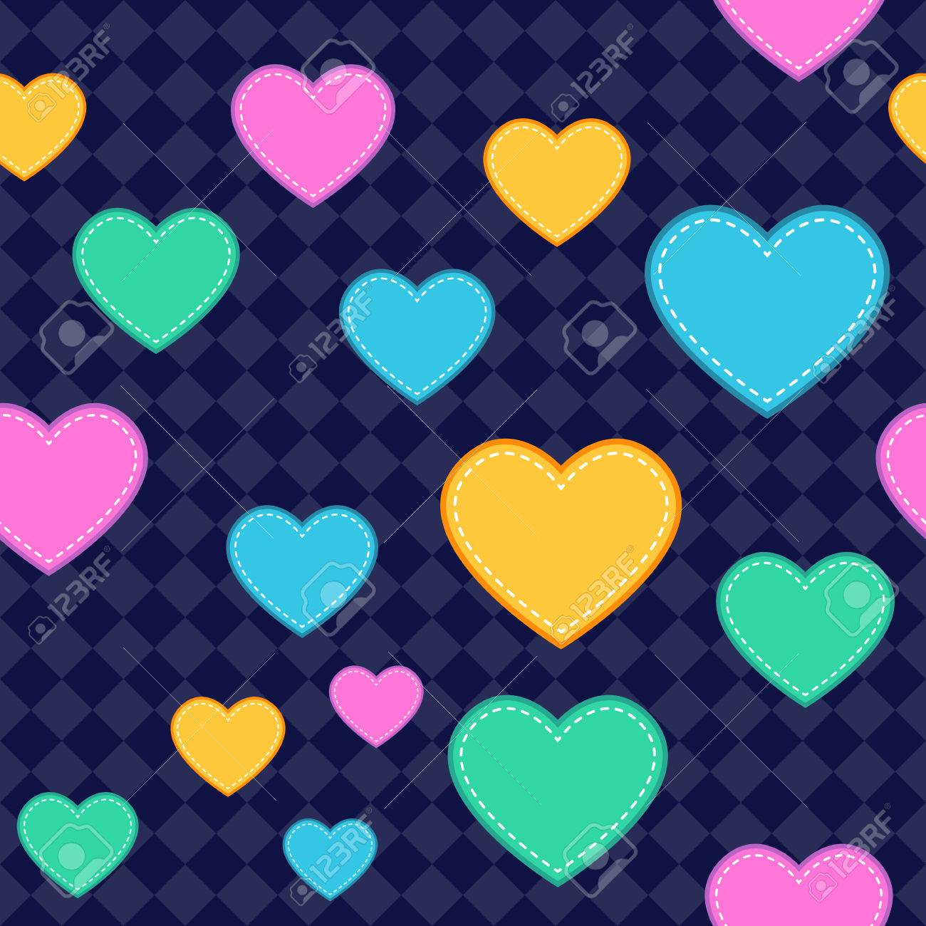 Seamless Heart Pattern Background. Assets are grouped on separate layers with a clipping path Stock Vector - 25475505