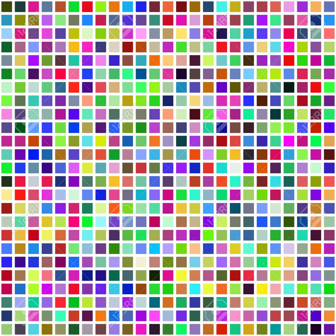 Grid of Random Colored Squares. Seamless Background. EPS8 Vector generated using a script Stock Vector - 39394260
