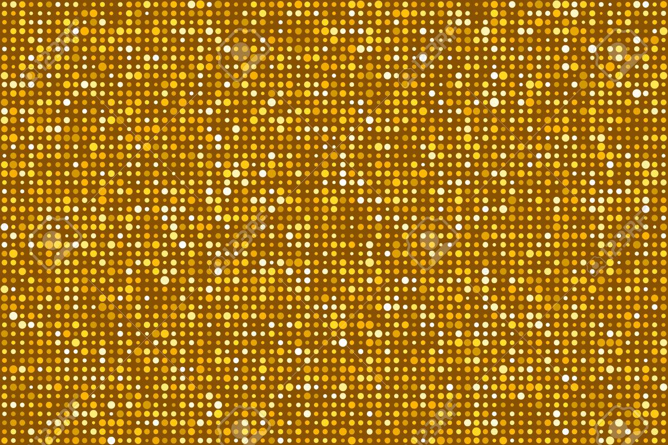 Gold Dots Pattern Seamless Background. Colors are randomly assigned. EPS8 Vector without transparency or gradients Stock Vector - 50995614