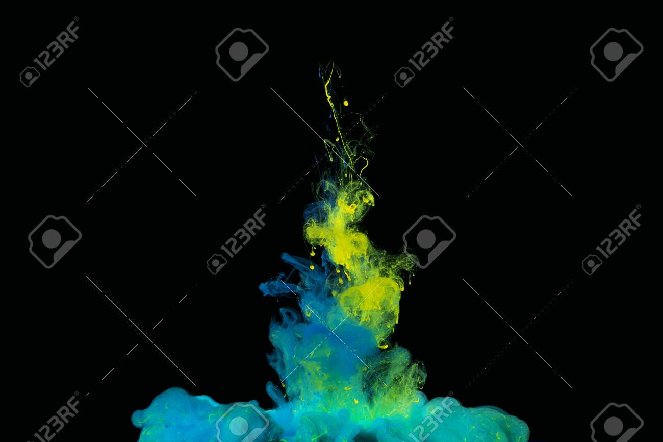 Splash of paint. Abstract background.The colorful dye in the water. Abstract. background. Wallpaper. Concept art - 146506431