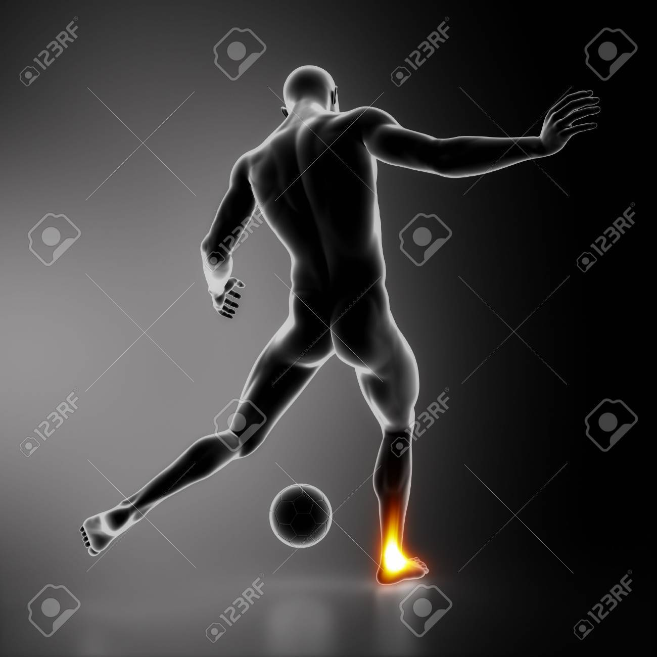 Most stressed sportsman joints ANKLE Stock Photo - 16260543
