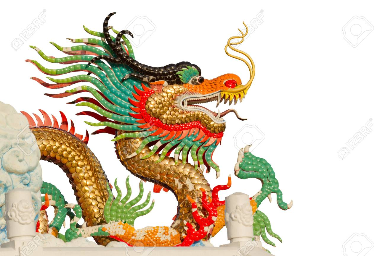 Colorful dragon isolated on white Stock Photo - 16139007