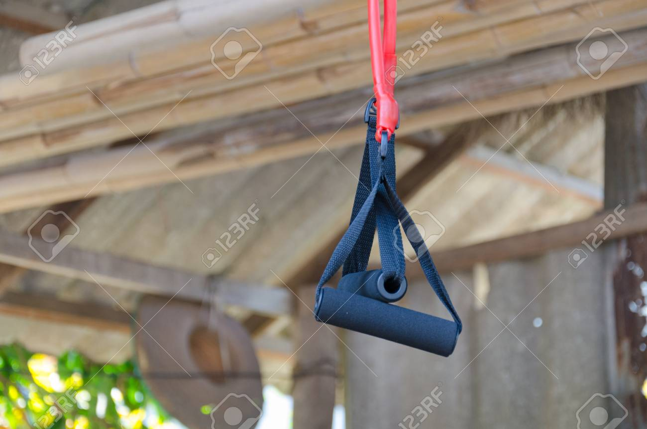 Sports Equipment For Pulling Arms. Stock Photo, Picture And Royalty ...