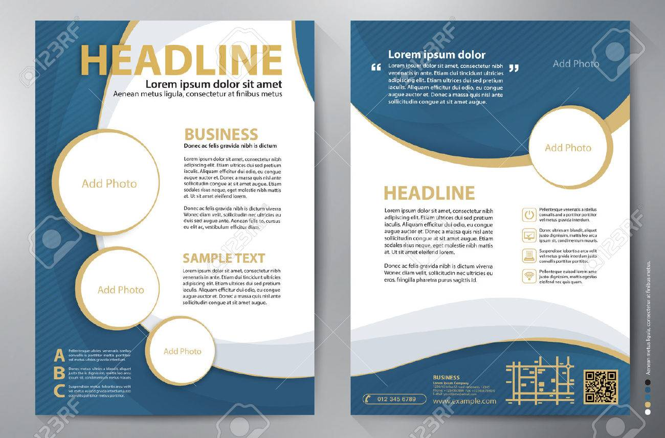 Brochure Design A4 Template Royalty Free Cliparts Vectors And