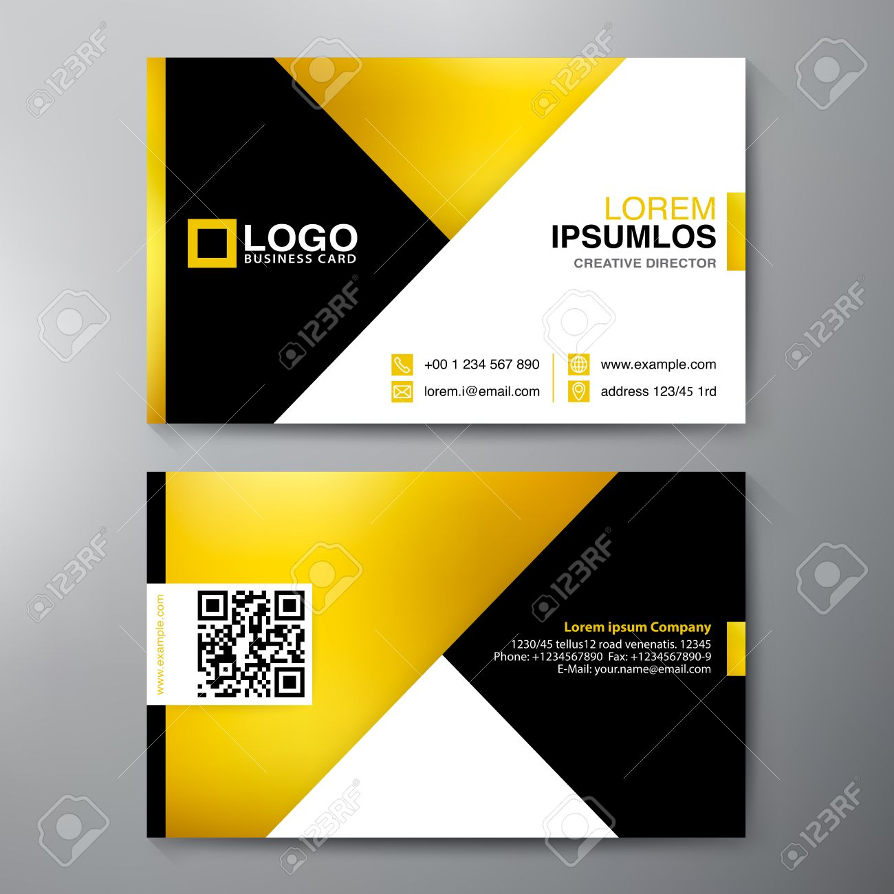 Modern Business Card Design Template Vector Illustration Royalty