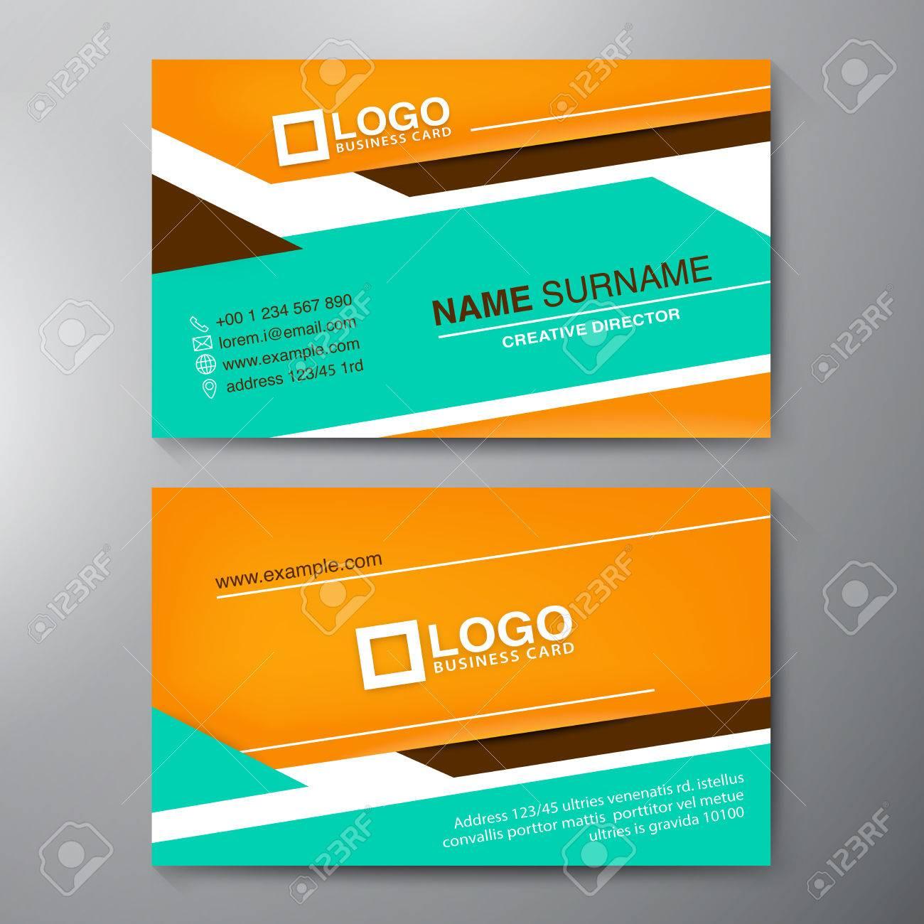 Modern Business Card Design Template. Vector Illustration Royalty ...