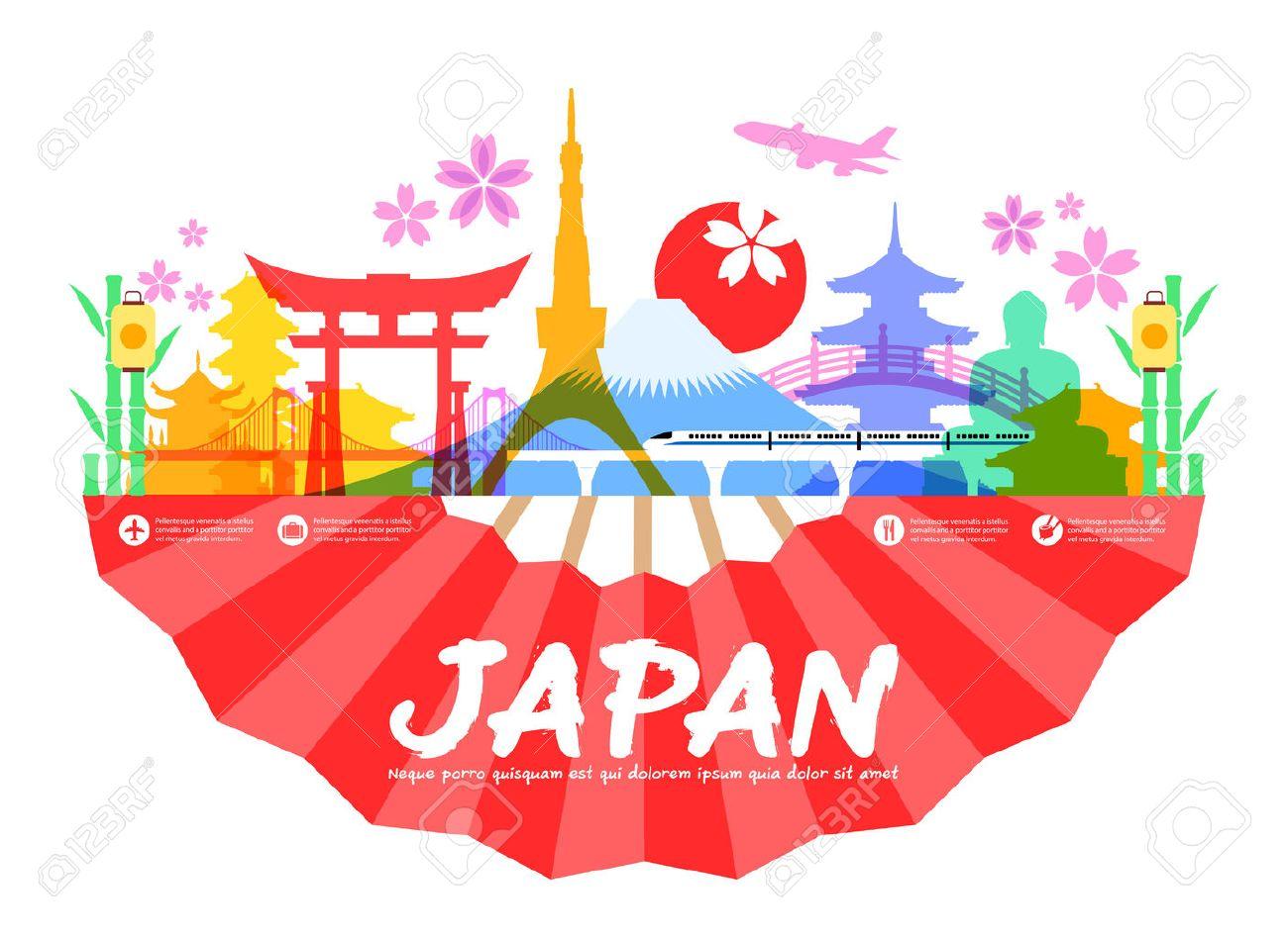 Beautiful Japan Travel Landmarks. Vector and Illustration. - 40217310