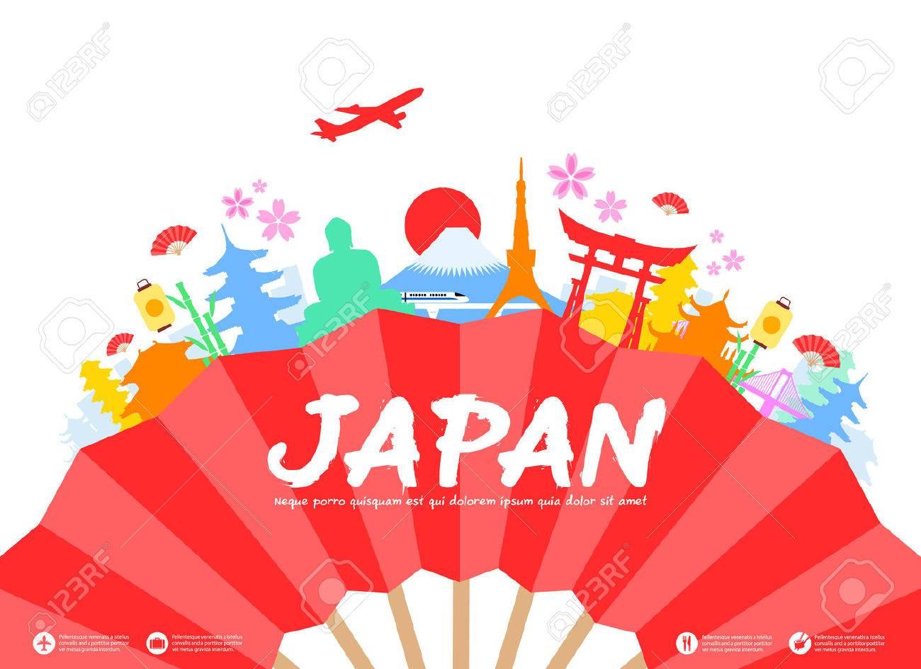 美しい日本旅行のランドマーク。ベクトルとイラスト。 ロイヤリティ