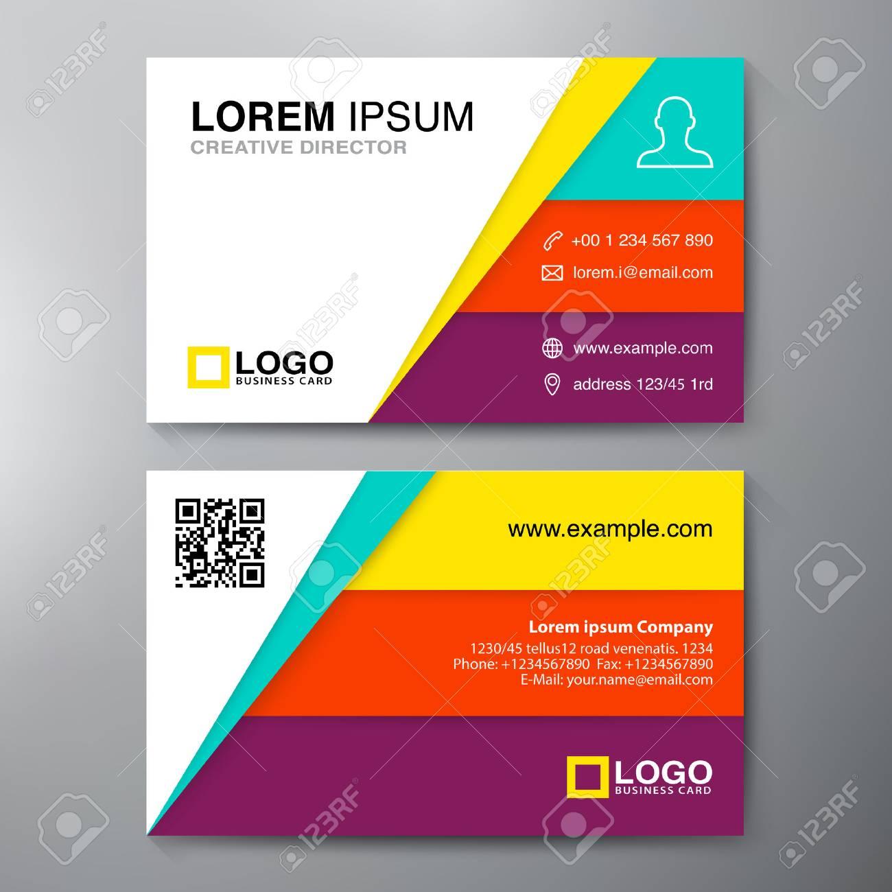 Modern Business Card Design Template Vector Illustration Royalty - Modern business card design templates