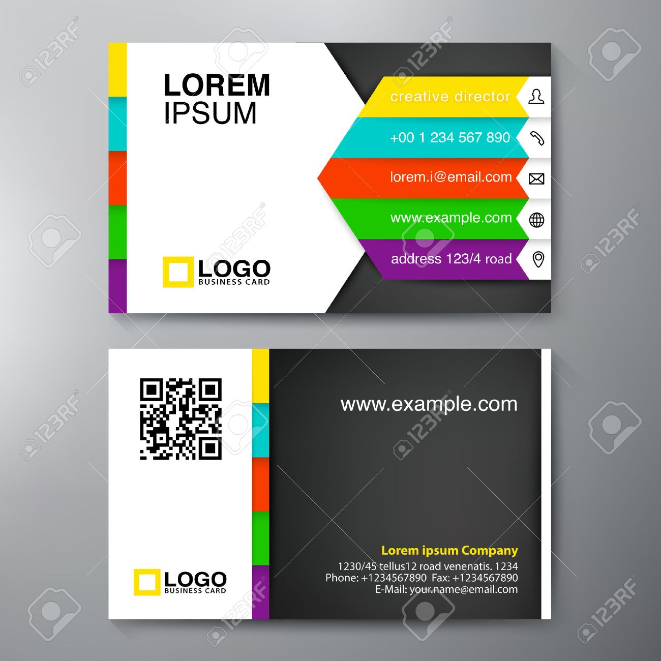 Modern business card design template vector illustration royalty modern business card design template vector illustration stock vector 41173463 fbccfo