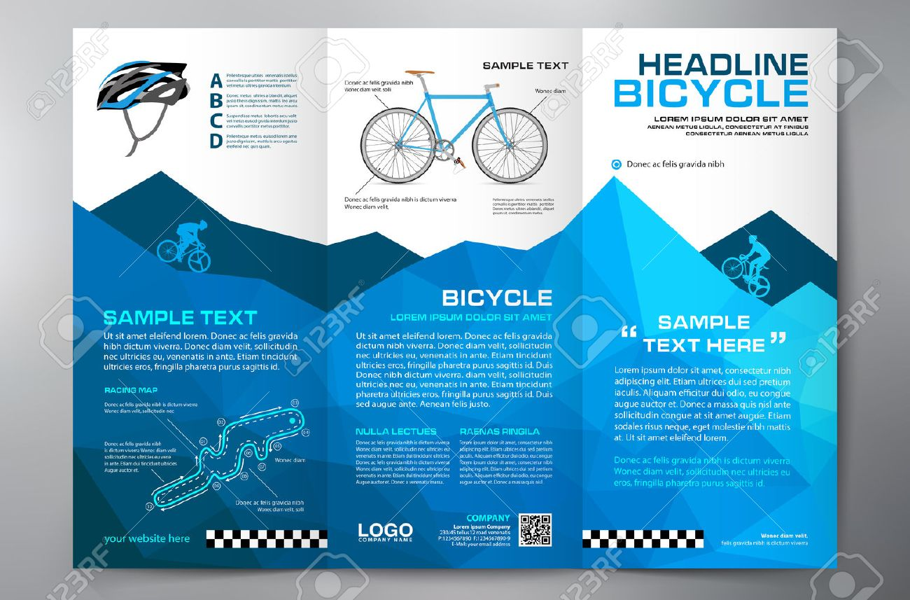 brochure leaflet design tri fold template vector illustration
