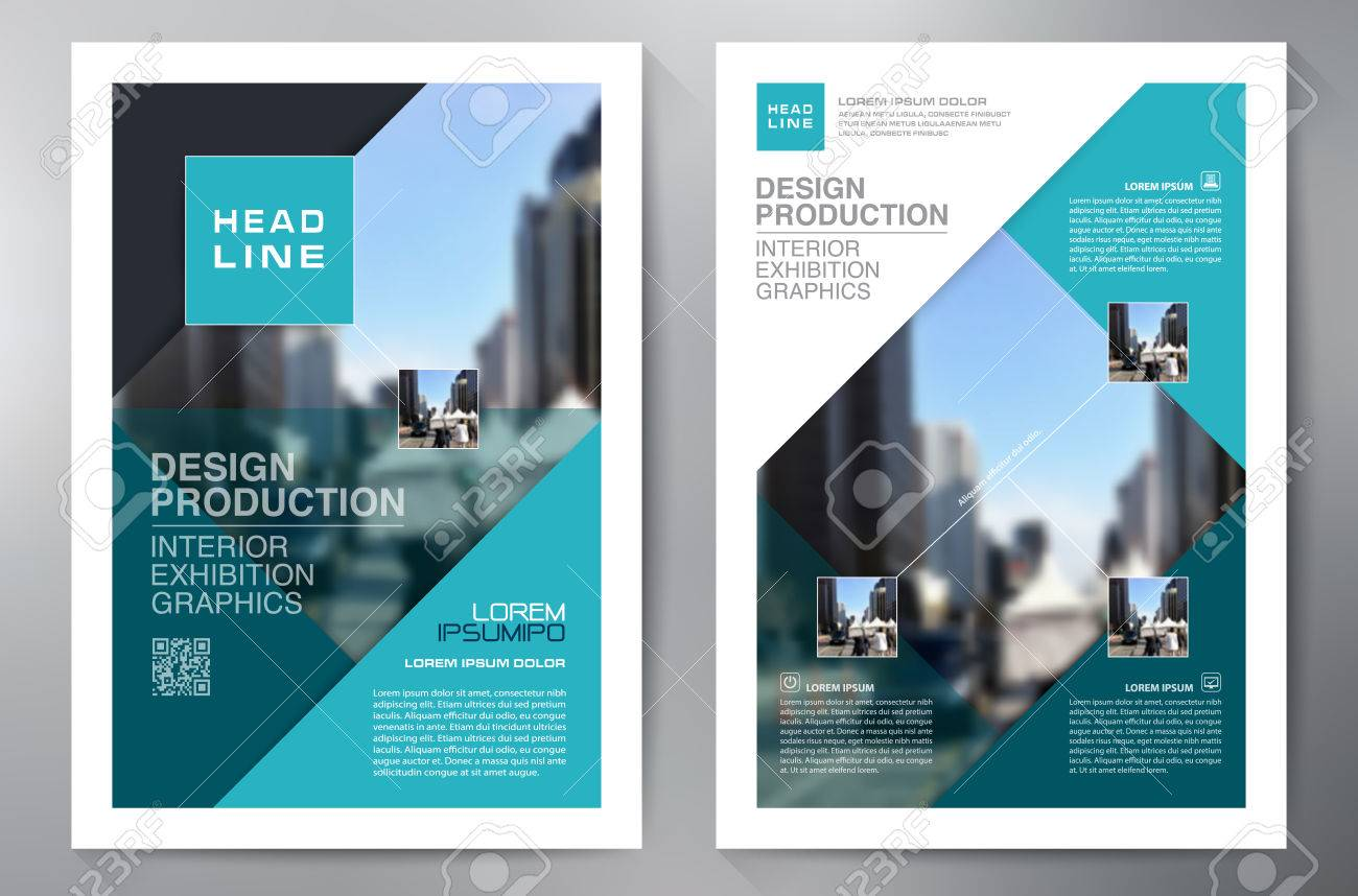 business brochure flyer design a4 template vector illustration