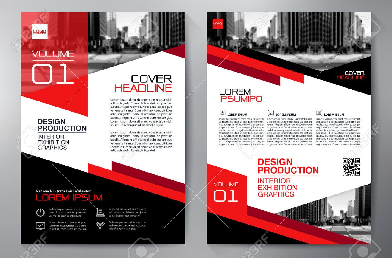 Business brochure flyer design a4 template  Vector illustration
