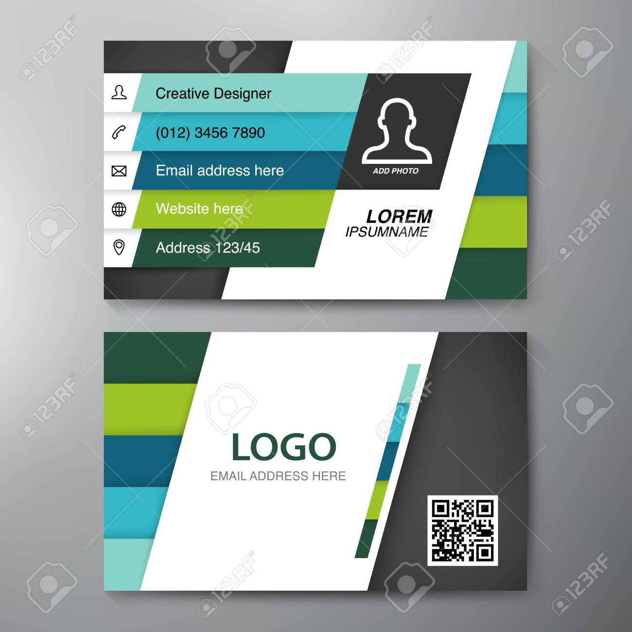 Modern business card design template royalty free cliparts vectors modern business card design template stock vector 60913372 fbccfo