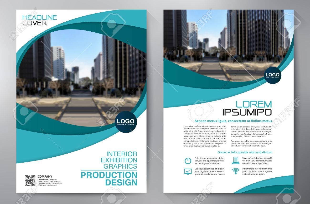Business Brochure. Design. Leaflets a4 Template. Cover Book and Magzine. Annual Report Vector illustration - 68020435