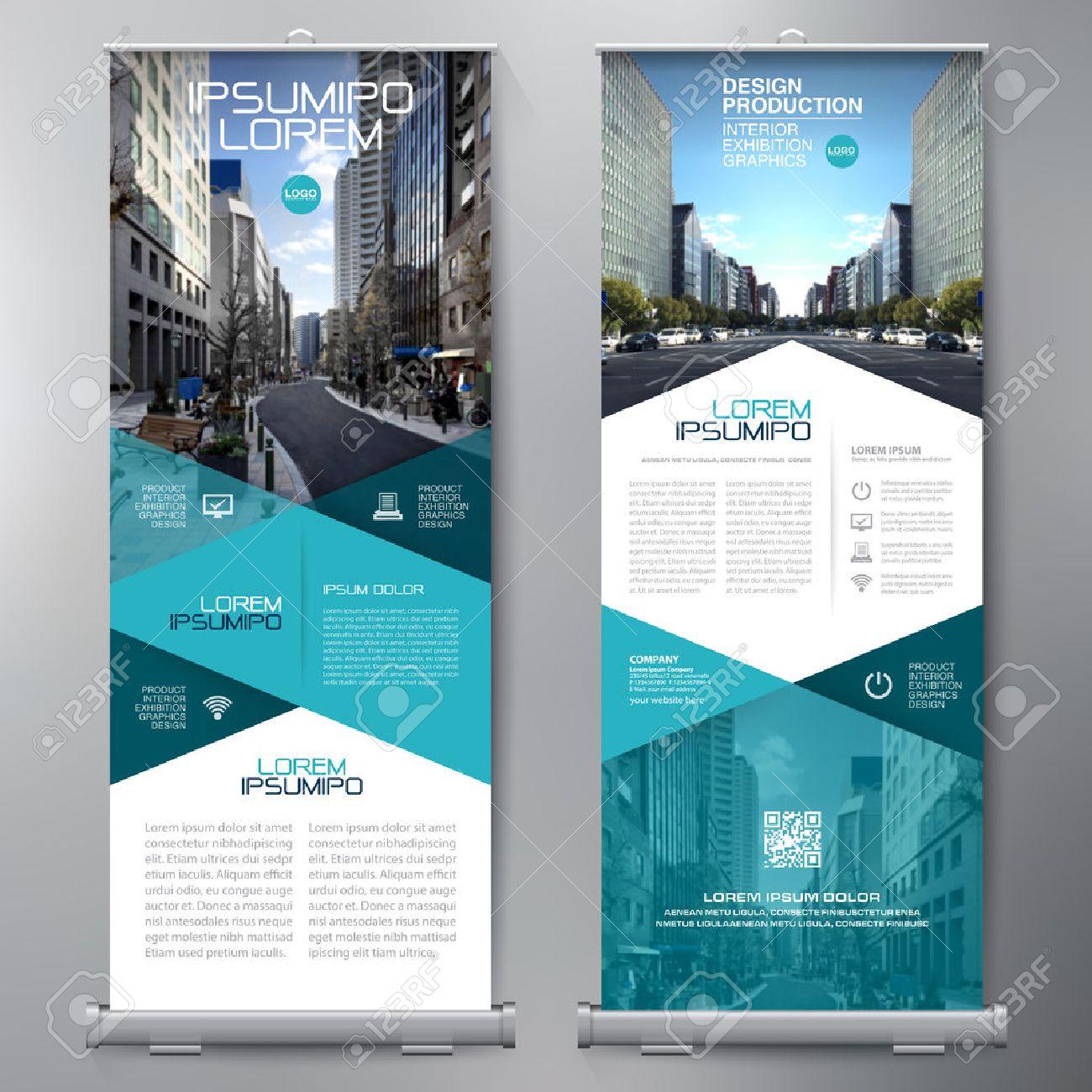 Business Roll Up. Standee Design. Banner Template. Presentation and Brochure Flyer. Vector illustration - 72453213